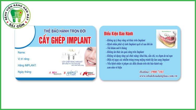 bảo hành Implant